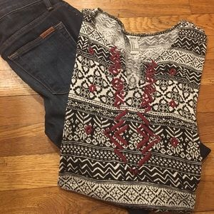 F21 Tribal Crop Top