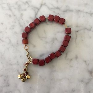 Jewelry - Red Wooden Beaded Bracelet