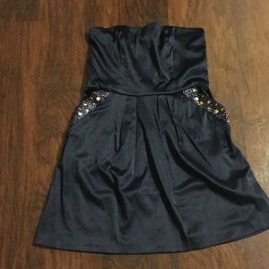 Jump Girl Dresses & Skirts - Navy Strapless Party Dress