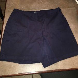 Just My Size Pants - Navy elastic band shorts