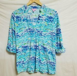 Lilly Pulitzer Tops - Lilly Pulitzer Tunic in High Tide Toile