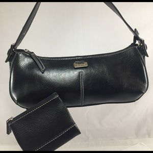 Kenneth Cole Reaction Handbags - KENNETH COLE REACTION Black Handbag & Coin Purse