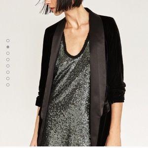 Zara Jackets & Blazers - 🆕 Zara Woman Velvet Blazer