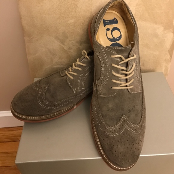 5eae30797f6 Nordstrom 1901 Men s gray suede wingtip shoes. M 58be2695bcd4a7250e02b217