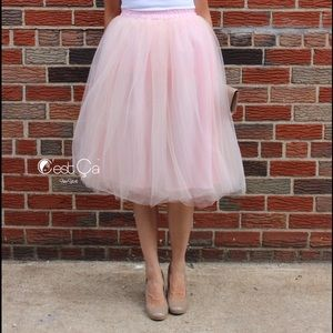 C'est Ca New York Dresses & Skirts - •WORN ONCE {C'est Ca New York} Pink Tulle Skirt!•