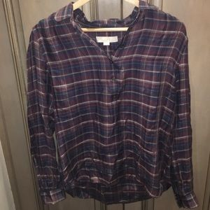 Pullover Plaid Top by Loft