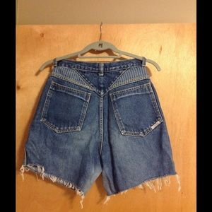 VTG 90s high waist mom jean shorts 80's Vintage