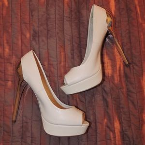 Aldo White & Silver heels