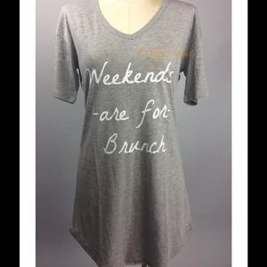 PJ Salvage Other - Sleepshirt Weekends Made For Brunch PJ Salvage NWT