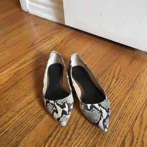 Seychelles Shoes - Seychelles Snake Skin Pointed Flats - 7