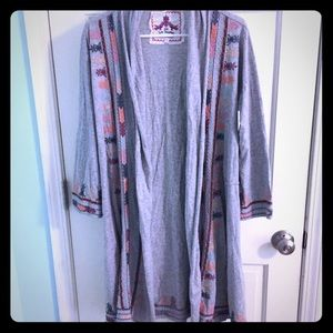 Johnny Was Sweaters - Johnny Was gray cardigan embroidered small sweater