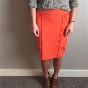 H&M Orange Pencil Skirt
