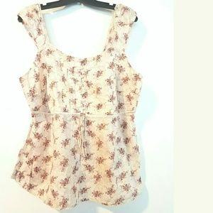 Lane Bryant Tops - Venezia / Lane Bryant 20 Vintage Style Cotton Top