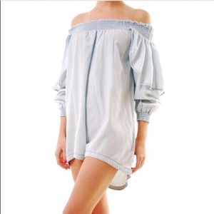 One Teaspoon Other - ONE TEASPOON NWOT off the shoulder Denim Romper