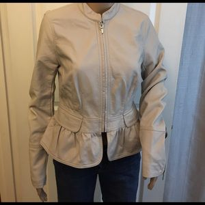 INC International Concepts Jackets & Blazers - SALE‼️INC Ruffle Leather Jacket