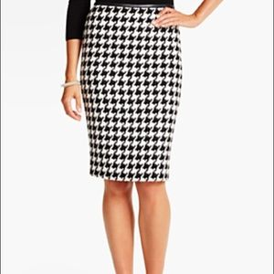 Snowy Houndstooth Pencil Skirt SIZE -14P