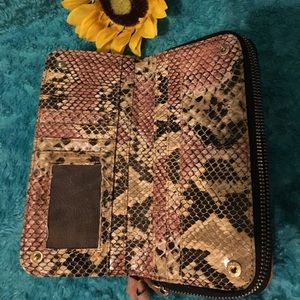 Kenneth Cole Bags - Snake skin interior  wallet