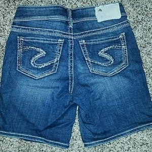 Silver Jeans Pants - Silver Suki Shorts