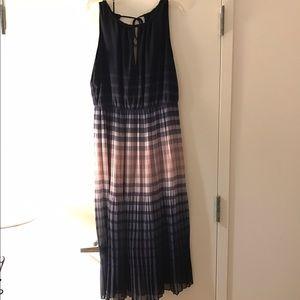 Maison Jules Ombré Tie Back Midi Dress