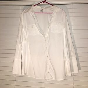 Just My Size Tops - Just My Size white button down