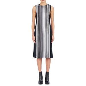 EDUN Dresses & Skirts - Edun Women's Black Striped Crepe Midi Dres