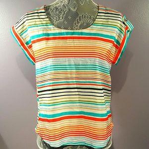 zinga  Tops - Vibrant Short sleeved top with cutout back -Zinga