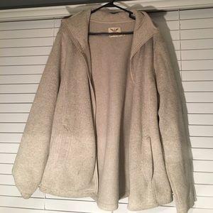 Faded Glory Jackets & Blazers - heavy gray coat with pockets and zipper