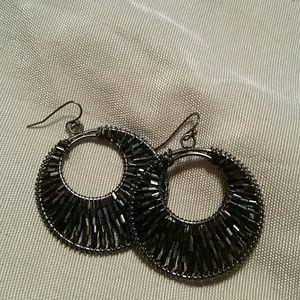 1822 Denim Jewelry - Beaded hoop earrings