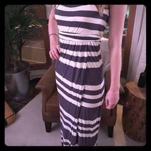 Blue and White Stripe Maxi