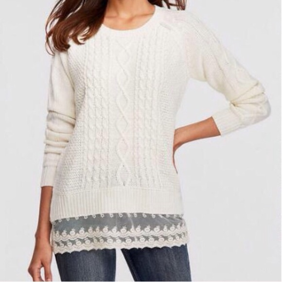 Dream Catcher - 💕$16💕Ivory cable knit sweater from ! kalie's ...