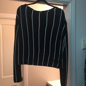 ovi Sweaters - Black striped sweater