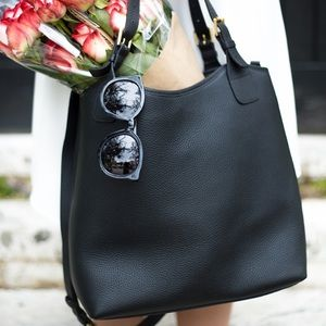 GiGi New York Black Olivia Shopper Tote