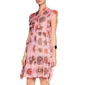 MSGM Dresses & Skirts - 🆕 MSGM - Printed Silk Crepe De Chine Mini Dress