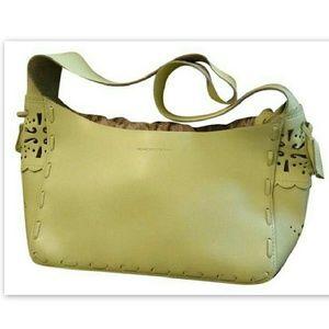 Francesco Biasia Handbags - Francesco Biasia Handbag Light Green Split Leather