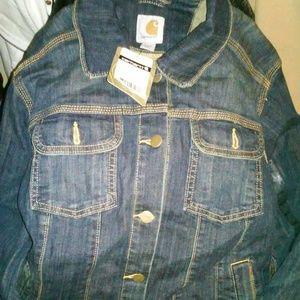 Carhartt Jackets & Blazers - New with tags Woman Carhartt Denim jacket