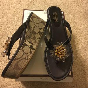 Coach Shoes - COACH WEDGE SANDALS NWT$148 SIZE7