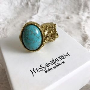 Yves Saint Laurent Jewelry - YSL ARTY RING TURQUOISE YVES SAINT LAURENT 7