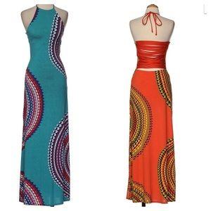 Maxi Dress. (Teal)