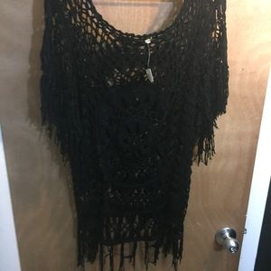 India Boutique Other - NWT black crochet coverup OS fits most.