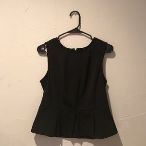 Urban Outfitters Black Peplum Top size L