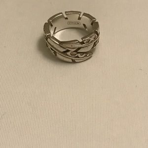 Coach Jewelry - Coach Feather Sterling Silver Ring