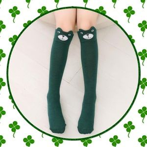 Boutique Other - Girls Cartoon Kitty Socks
