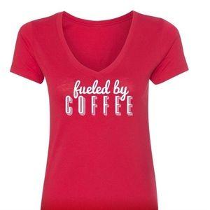 Salt Lake Clothing Tops - Fueled by Coffee Crew Tee