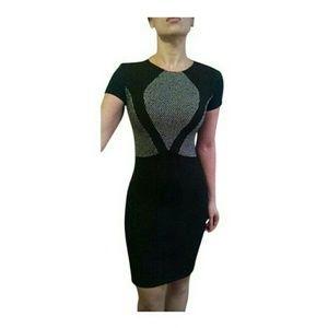 L'AGENCE Dresses & Skirts - L'AGENCE  Colorblock Black Sheath Pencil Dress