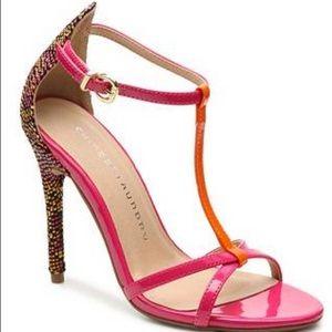 t strap pink heels on Poshmark