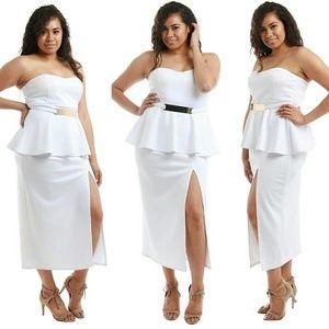 Dresses & Skirts - Plus size white dress 1x 2x 3x