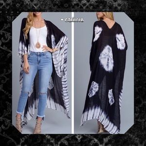 6th RESTOCK🆕Maxi Tye Dye Cardigan Duster One Size