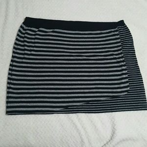 Life is Good Dresses & Skirts - Life is Good Faux Wrap Striped Skirt Size XXL