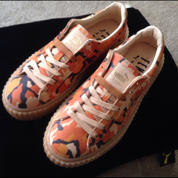 sale retailer adeb0 9f768 FENTY X PUMA Orange Camo Creepers NWT