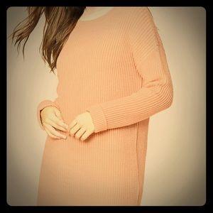 Purl knit oversized sweater size M